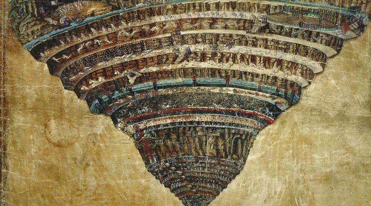 Sandro Botticelli, Map of Inferno (1480-90)