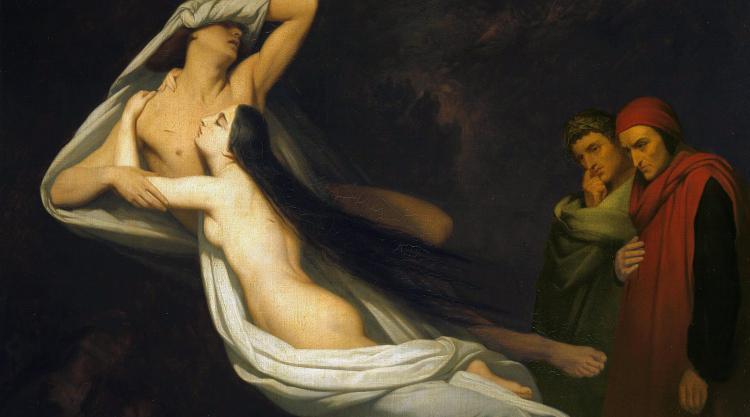 Paolo e Francesca painting