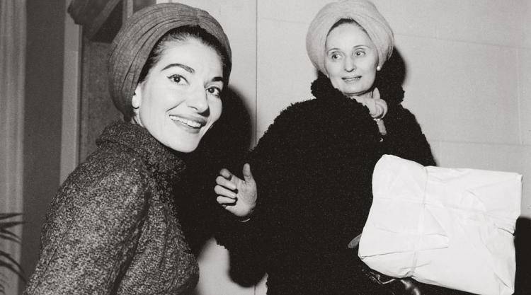 photo of Maria Callas with Biki