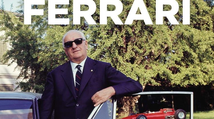 Detail from Enzo Ferrari book cover