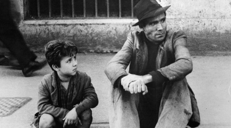 Still from Bicycle Thieves
