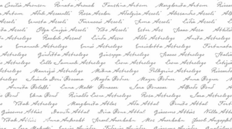image of list of names