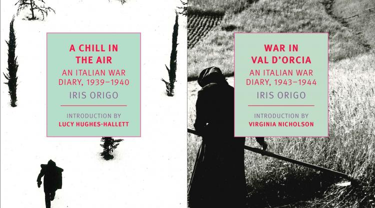 Book covers of Iris Origo's A Chill in the Air and War in Val d'Orcia