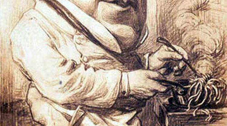 detail from Rossini caricature