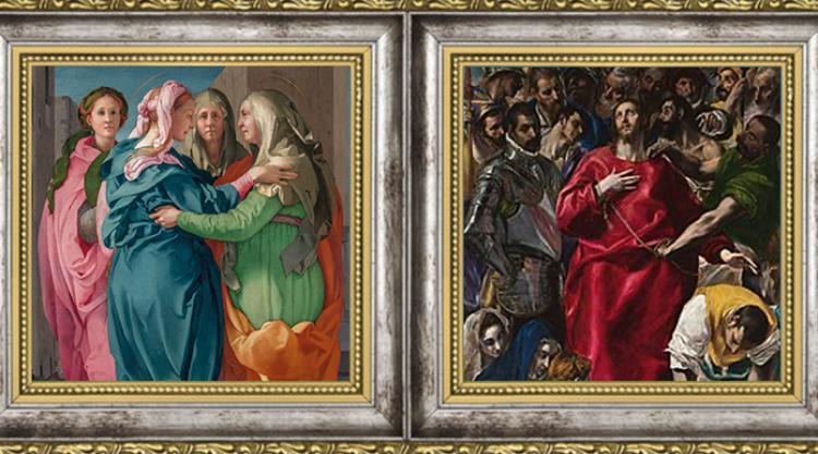 Pontormo Visitation 1528/El Greco El Espolio 1577