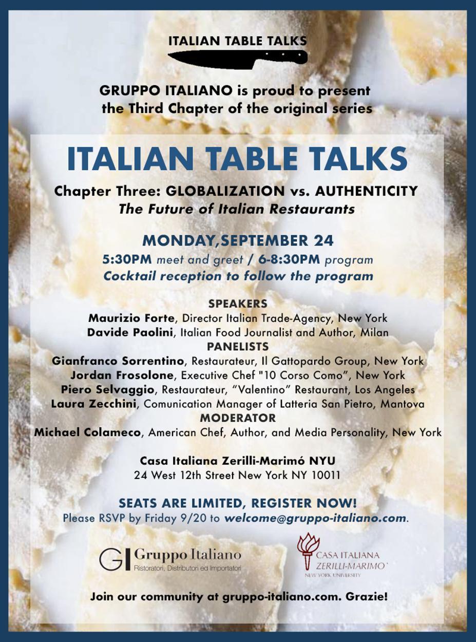 Globalization vs authenticity casa italiana zerilli marim invite m4hsunfo
