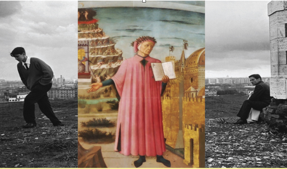 collage Dante/Pasolini