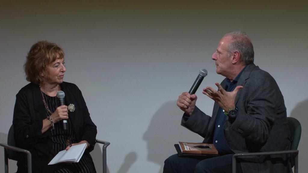 photo of event with Gabriella Belloni and Stefano Albertini