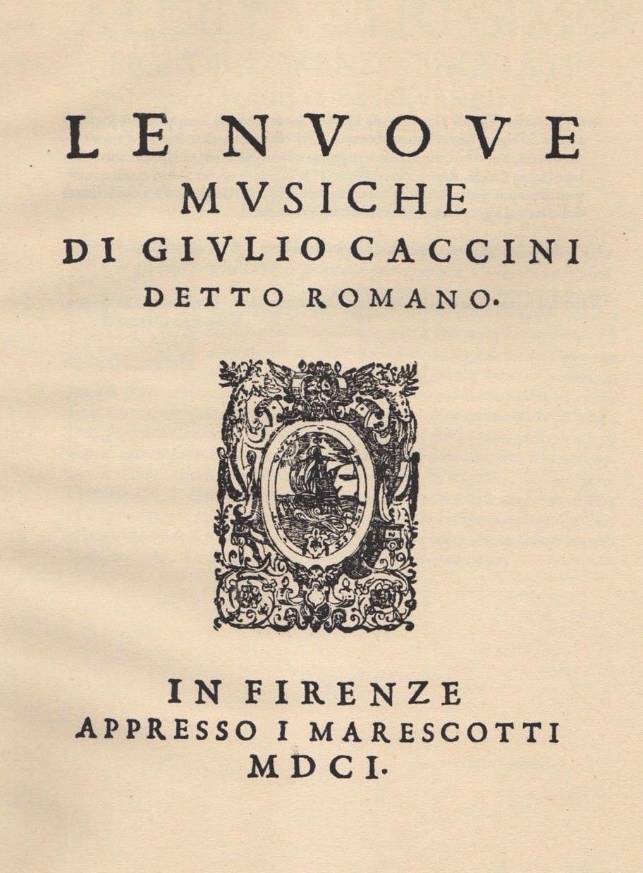 Image of Le nuove musiche of Caccini