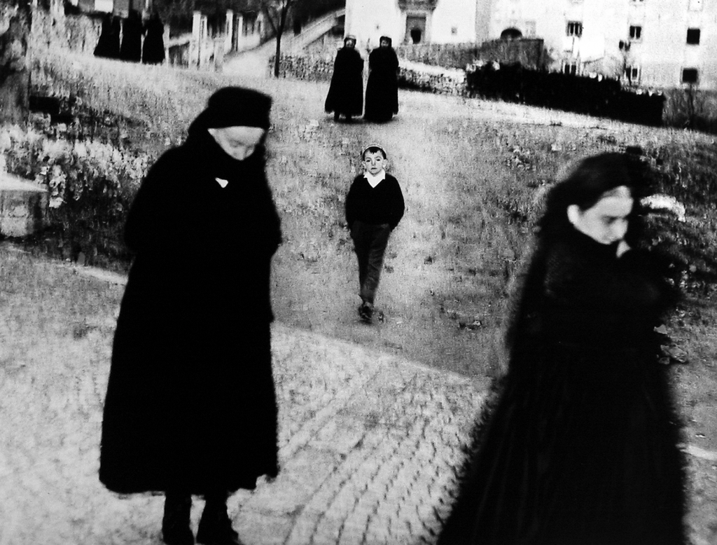 Mario Giacomelli, Scanno (boy), 1957. © Estate of Mario Giacomelli, courtesy Howard Greenberg Gallery