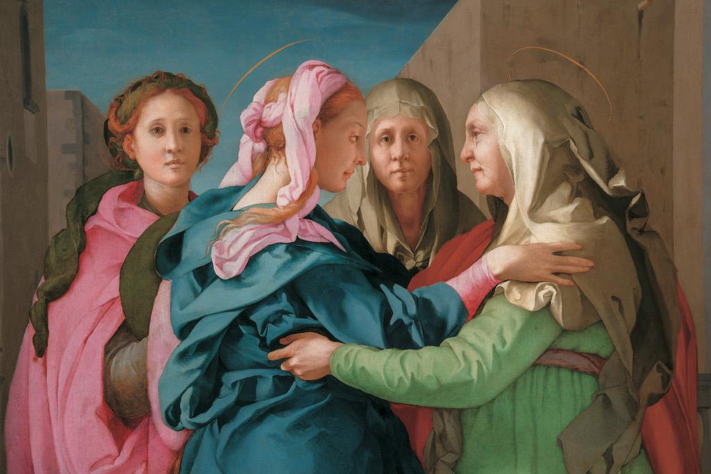 Image of a detail from Pontormo's Visitation
